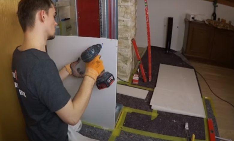 Bild von Rigips verschrauben – Verlegen und befestigen von Rigipsplatten