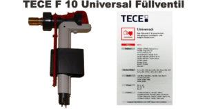 Spülkasten Füllventil tauschen mit dem TECE Universal Füllventil F 10 für einen Unterputzspülkasten oder Aufputzspülkasten