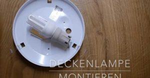 Lampe anschliessen - richtige Verkabelung verwenden