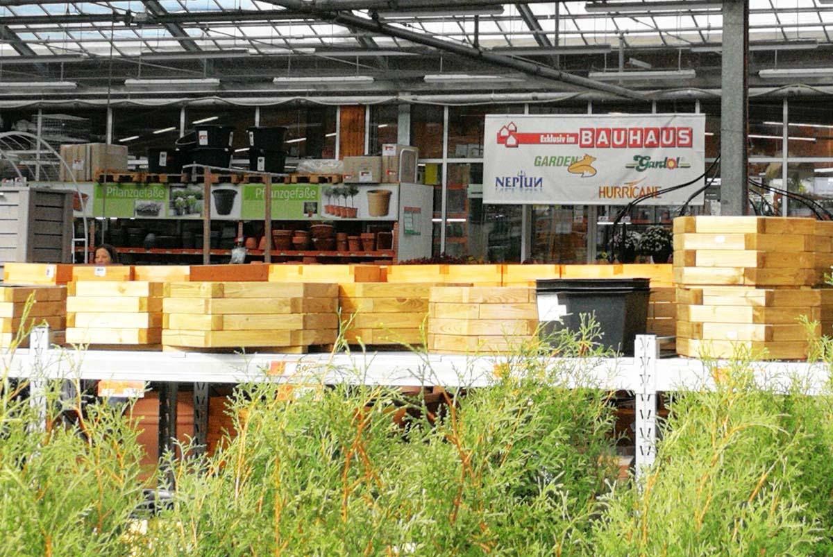 Die Gartenabteilung heißt bei Bauhaus